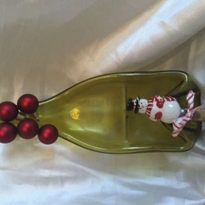 2 section wine bottle